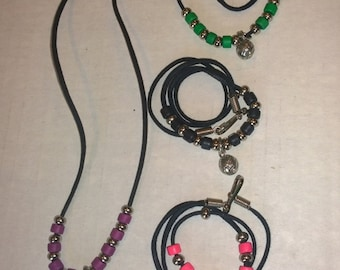 Volleyball Beaded Necklace
