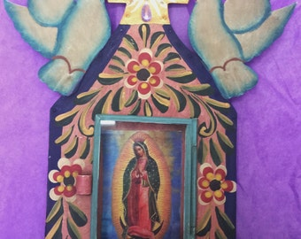 Virgin of Guadalupe with two birds