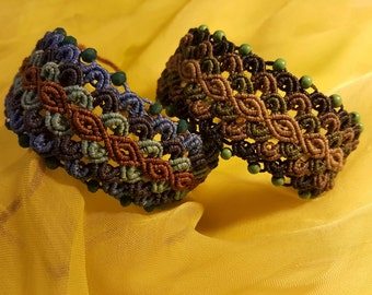 Macrame Bracelets with Crystals