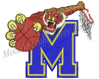 Memphis Tigers Logo Machine Embroidery Design 4 Size