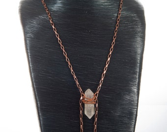 Quartz Crystal & Copper Necklace
