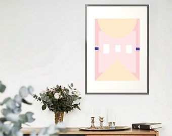 Mid Century Abstract - On Trend Pink