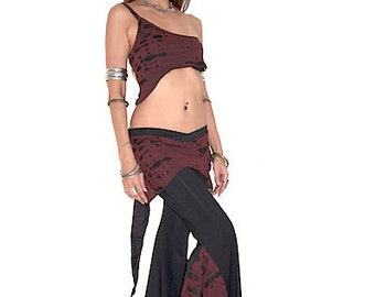 Tribal belly dance Letson wearing red hole pants