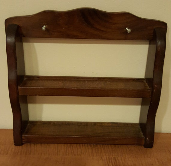 ... Countertop Spice Rack~Vintage Wall Hanging Spice Rack~Spice Wooden