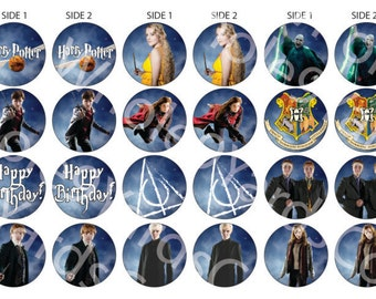 Harry Potter Cupcake Topper Downloadable Print Out