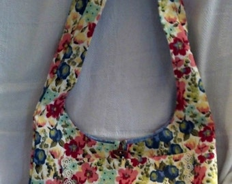 Red and Blue Hobo Bag