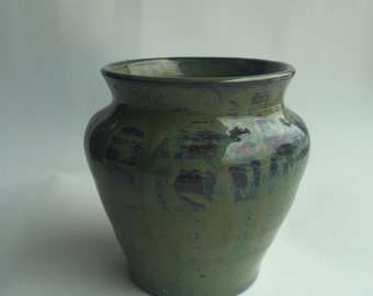 Small Green Drip Vase