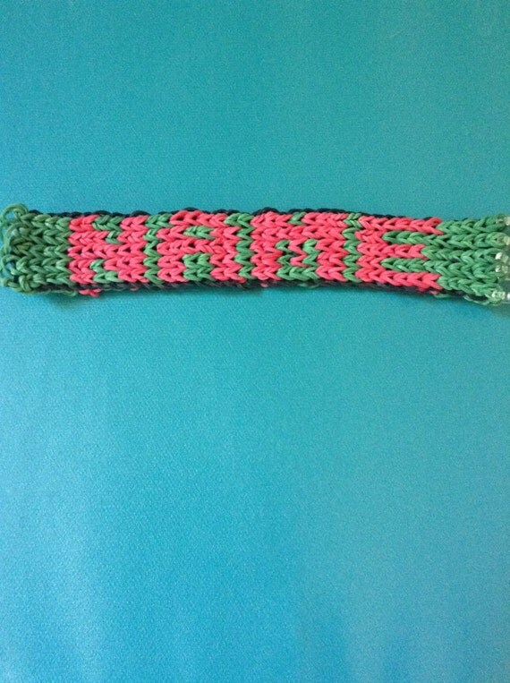 Rainbow Loom Rubber Band Customizable Name Bracelet Great For