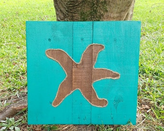 Starfish - Pallet Wood Art, Nautical, Beach, Sea, Summer