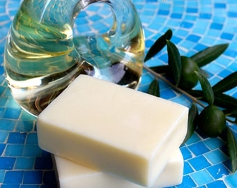All-Natural Olive Oil Lotion Bar - Unscented - 3.8 Ounces - 1 Handmade Bar