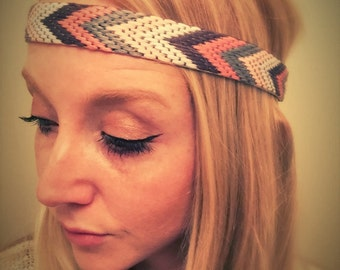 Boho feather headband,Indian hair accessory,Native American headband,Indian costume,Aztec accessory,natural hair jewelry,suede cord turban