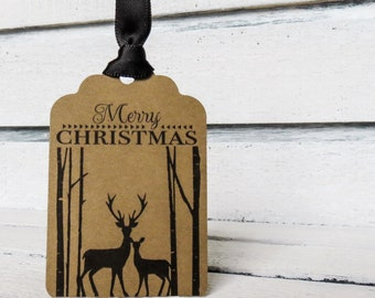 Woodland Merry Christmas Tags