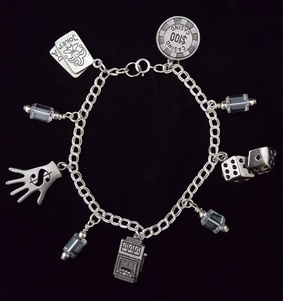 Silver money luck good luck charm bracelet