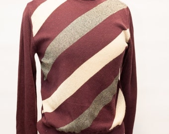 Women's Medium 80s Vintage Maroon Kathie Lee Collection Sweater