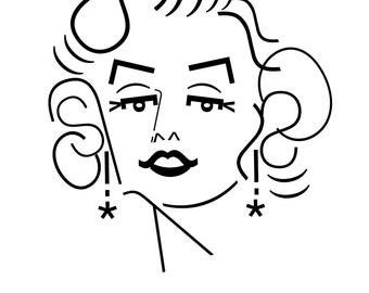 Marilyn Monroe - famous typeface