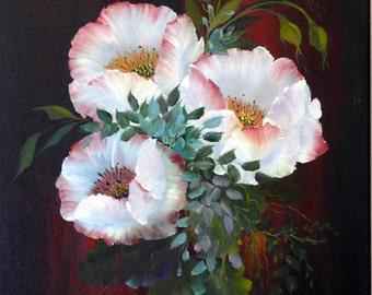 Poppy Glow; 18x24; Oil and Acrylic on Canvas