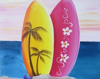 Surf's Up Canvas Painting