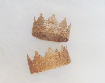 Arielle || Gold crown|| headband || cake topper