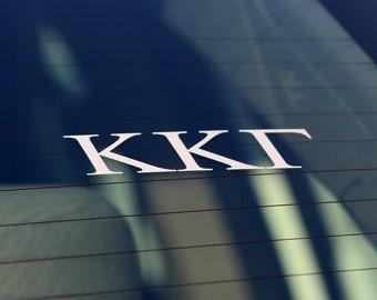 Kappa Kappa Gamma | White Adhesive Decal