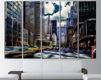 Park Avenue Large Canvas Print Wall Art Park Avenue Canvas Set New York Canvas Art New York City Poster New York Photo New York Print