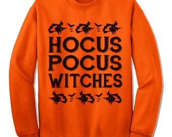 Hocus Pocus Witches Halloween Sweatshirt. Halloween Gift.