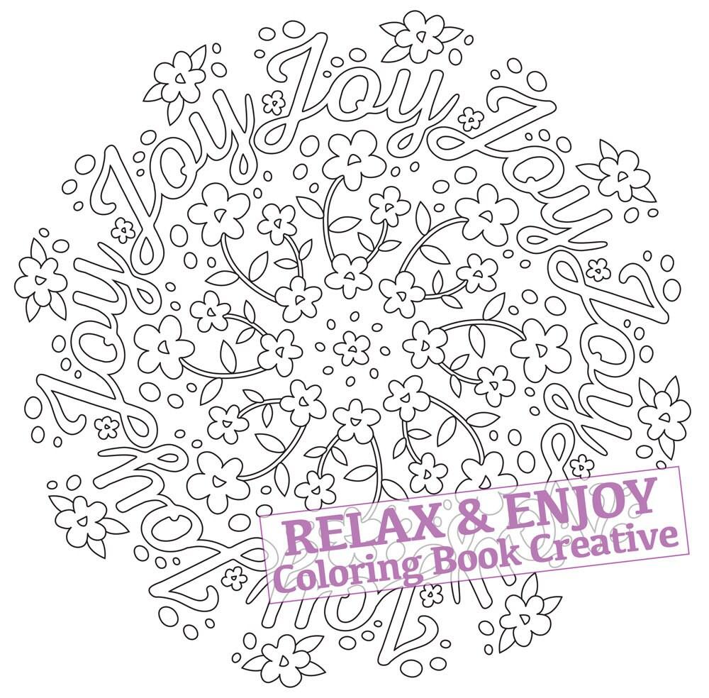joy mandala coloring page coloring page 1 pdf