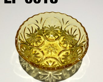 Vintage amber colored glass bowl - EP0018