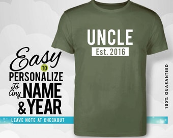 Uncle gift, uncle, family, family shirt, birthday shirt, birthday gift, personalized gift, tshirt, shirt, birthday, family tree, 40s, 50s