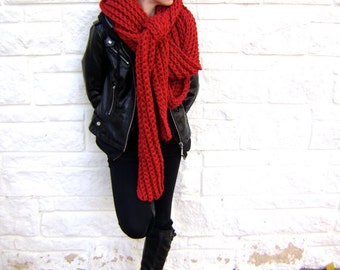 Hand Crocheted Mile Long Scarf