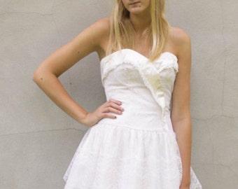Vintage Swan lace dress S