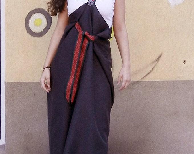 Lagenlook Bohemian Pinafore Dress, Maxi Abaya Pinafore, Cocoon Pinafore Dress, Long Oversized Dress, Boho Chic Ample Pinafore Dress