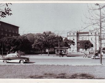Vintage Photo - City in Poland - Cityscape - Vintage car photo - Vintage Snapshot - Polish Photo - 1950s photo - Street photo