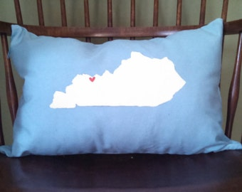 Hand Painted State Pillows