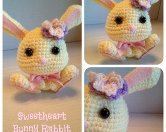 Sweetheart Bunny Rabbit Crochet Pattern