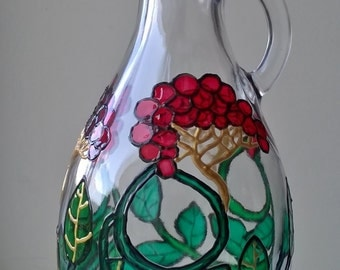 Painted Glass bottle Rowan berry oil