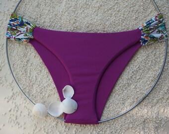 Paisley bikini bottom/ plus size bikini bottom/ ruffled bikini bottom/ low waisted bikini bottom/ bikini bottom size xs-3xl.
