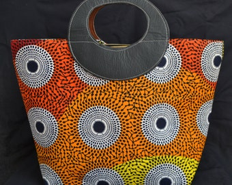 large African print purse