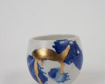 Blue & Gold Vase Sm