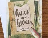 Item #57 Friendship/Encouragement/Thinking of You Greeting Card - Masculine Fishing - Grace Upon Grace - John 1:16