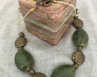 Knotted Cord Necklace