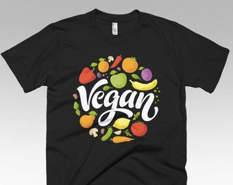 Vegan shirt, Vegan Clothing, Vegan Gifts, Vegan t shirts, Funny t shirts, Vegan Fruit Salad