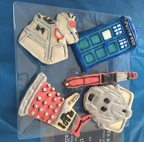 One Dozen Doctor Who Cookies