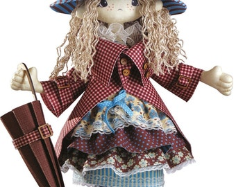 Doll Mery sewing Kit   hero the film Children of Captain Grant  Textile carcass doll with individual traits Kit Nova Sloboda