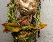 Secret Garden,  Kitchen Witch,  Spirit of Creativity, Art Doll Assemblage.