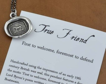 True Friend Wax Seal Necklace of a Dog - 233