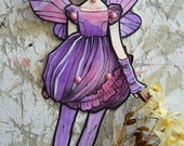 Jointed Articulated Paper Dolls - Folk Art - Paper Goods - Hand-painted - Victorian Fairy - The Faery Ball 18