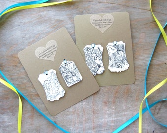 Nancy Drew Gift Tags - upcycled from vintage book - Ready to Ship