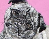 Custom Pet Portrait - Medium Size