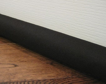 CUSTOM length door draft guard // door draft stopper // black or natural canvas