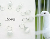 Snag-Free Stitch Markers for Knitting or Crochet, Dove, Customizable in Small or Mini, Great for Lace or Socks